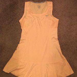 NIKE orange tennis dress